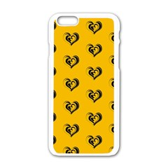 Lovely Hearts 17e Apple Iphone 6/6s White Enamel Case by MoreColorsinLife