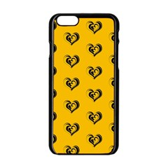 Lovely Hearts 17e Apple Iphone 6/6s Black Enamel Case by MoreColorsinLife