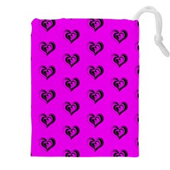 Lovely Hearts 17c Drawstring Pouches (xxl) by MoreColorsinLife