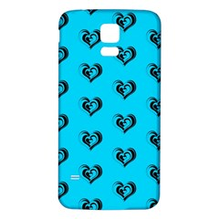 Lovely Hearts 17f Samsung Galaxy S5 Back Case (white) by MoreColorsinLife
