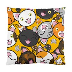 Cats Cute Kitty Kitties Kitten Standard Cushion Case (two Sides) by BangZart