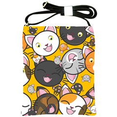 Cats Cute Kitty Kitties Kitten Shoulder Sling Bags by BangZart