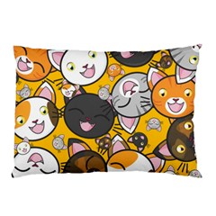 Cats Cute Kitty Kitties Kitten Pillow Case (two Sides) by BangZart