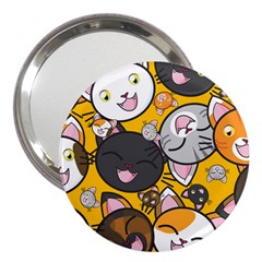 Cats Cute Kitty Kitties Kitten 3  Handbag Mirrors
