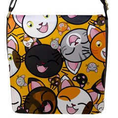 Cats Cute Kitty Kitties Kitten Flap Messenger Bag (s)