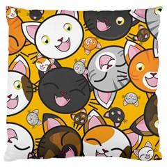 Cats Cute Kitty Kitties Kitten Large Flano Cushion Case (two Sides)