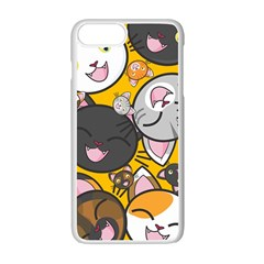 Cats Cute Kitty Kitties Kitten Apple Iphone 7 Plus White Seamless Case by BangZart
