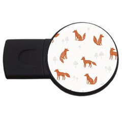 Fox Animal Wild Pattern Usb Flash Drive Round (2 Gb) by BangZart