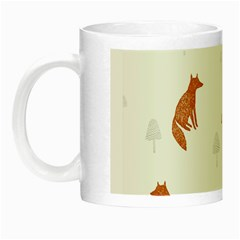 Fox Animal Wild Pattern Night Luminous Mugs