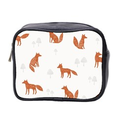 Fox Animal Wild Pattern Mini Toiletries Bag 2 Side by BangZart