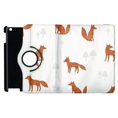 Fox Animal Wild Pattern Apple Ipad 2 Flip 360 Case