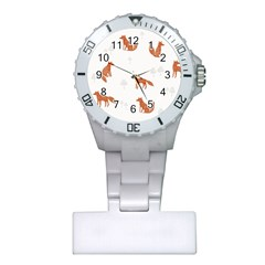 Fox Animal Wild Pattern Plastic Nurses Watch