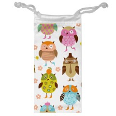 Cute Owls Pattern Jewelry Bag
