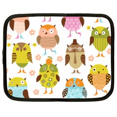 Cute Owls Pattern Netbook Case (xxl)