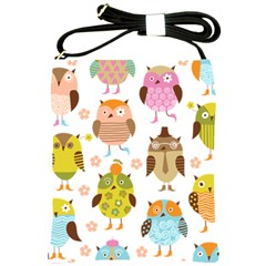 Cute Owls Pattern Shoulder Sling Bags by BangZart