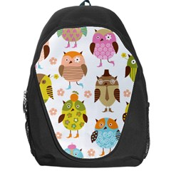 Cute Owls Pattern Backpack Bag by BangZart