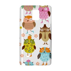 Cute Owls Pattern Samsung Galaxy Note 4 Hardshell Case