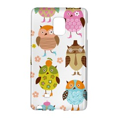 Cute Owls Pattern Galaxy Note Edge by BangZart