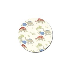 Dinosaur Art Pattern Golf Ball Marker (4 Pack)