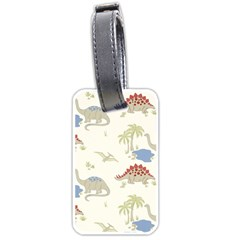 Dinosaur Art Pattern Luggage Tags (one Side)  by BangZart