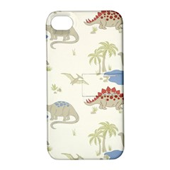 Dinosaur Art Pattern Apple Iphone 4/4s Hardshell Case With Stand