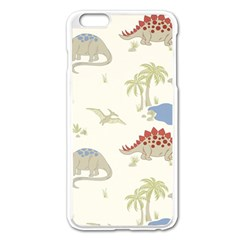 Dinosaur Art Pattern Apple Iphone 6 Plus/6s Plus Enamel White Case