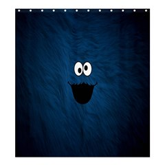 Funny Face Shower Curtain 66  X 72  (large)  by BangZart