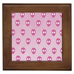 Alien Pattern Pink Framed Tiles