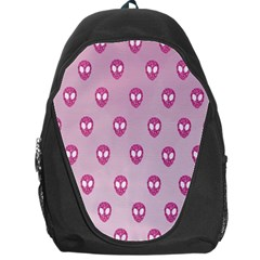 Alien Pattern Pink Backpack Bag