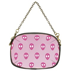 Alien Pattern Pink Chain Purses (two Sides)  by BangZart