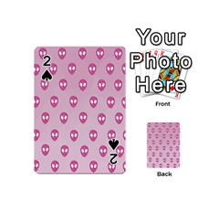 Alien Pattern Pink Playing Cards 54 (mini)  by BangZart