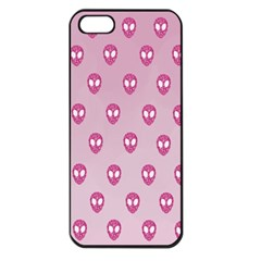 Alien Pattern Pink Apple Iphone 5 Seamless Case (black) by BangZart