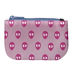 Alien Pattern Pink Large Coin Purse