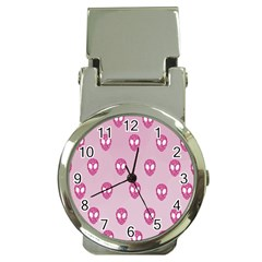 Alien Pattern Pink Money Clip Watches by BangZart