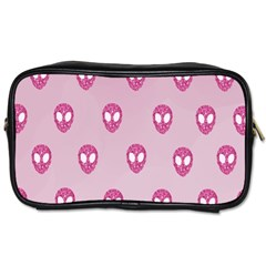 Alien Pattern Pink Toiletries Bags 2 Side by BangZart