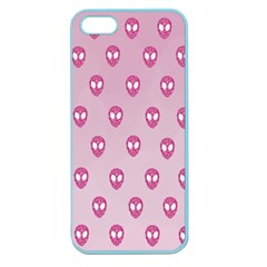 Alien Pattern Pink Apple Seamless Iphone 5 Case (color)