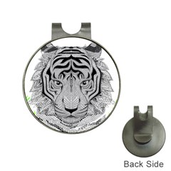 Tiger Head Hat Clips With Golf Markers