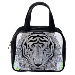 Tiger Head Classic Handbags (one Side)