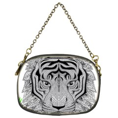 Tiger Head Chain Purses (two Sides)
