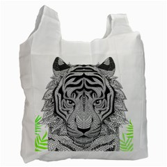 Tiger Head Recycle Bag (two Side)