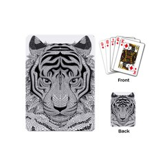Tiger Head Playing Cards (mini)  by BangZart