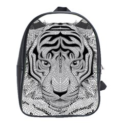 Tiger Head School Bags (xl)