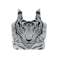 Tiger Head Full Print Recycle Bags (s)  by BangZart