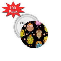 Cute Owls Pattern 1 75  Buttons (100 Pack)  by BangZart