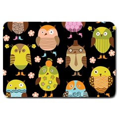 Cute Owls Pattern Large Doormat  by BangZart
