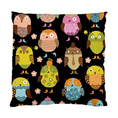 Cute Owls Pattern Standard Cushion Case (two Sides) by BangZart