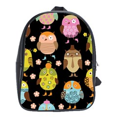 Cute Owls Pattern School Bags(large)  by BangZart