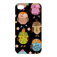Cute Owls Pattern Apple Iphone 4/4s Premium Hardshell Case