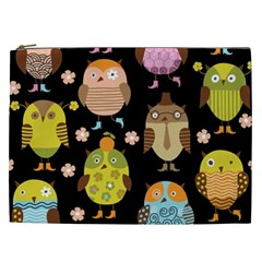 Cute Owls Pattern Cosmetic Bag (xxl)