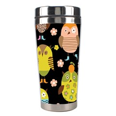 Cute Owls Pattern Stainless Steel Travel Tumblers by BangZart